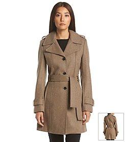 Calvin Klein Belted Notch Walker Coat
