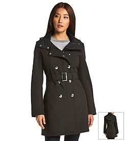 Calvin Klein Asymmetric Snap Collar Coat