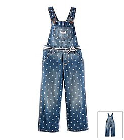 OshKosh B'Gosh® Baby Girls' 6-24M Polka Dot Denim Overalls