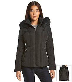 Calvin Klein Hooded Short Down Coat