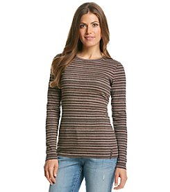 Ruff Hewn Petites' Striped Crew Neck Top
