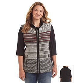 Ruff Hewn Plus Size Fleece Back Vest