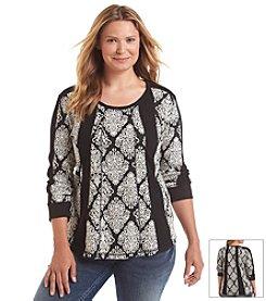 Ruff Hewn Plus Size Fairisle Blocked Sweatshirt