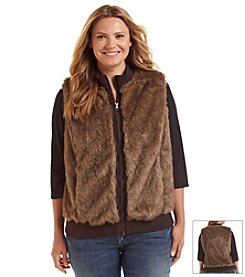 Ruff Hewn Plus Size Faux Fur Vest