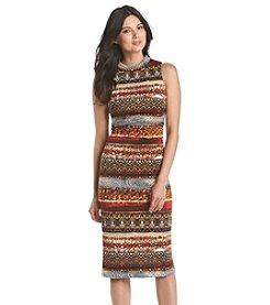 Gabby Skye® Sleeveless Turtleneck Midi Dress