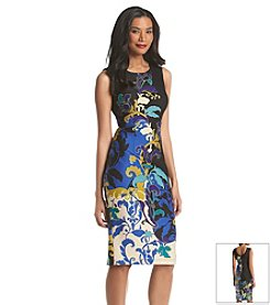 Julian Taylor Printed Sheath Dress