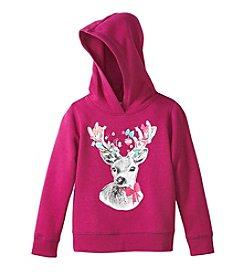 Little Miss Attitude Girls' 2T-6X Reindeer Fleece Pullover