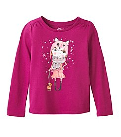 Little Miss Attitude Mix & Match Girls' 2T-6X Gathered Shoulder Tee