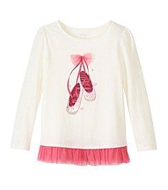 Little Miss Attitude Mix & Match Girls' 2T-6X Ballet Slipper Tulle Hem Tee