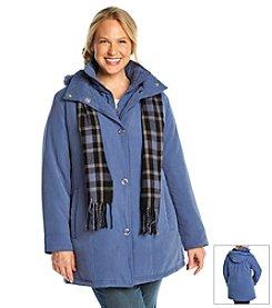 Breckenridge® Plus Size Bib Coat With Scarf