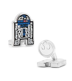 Star Wars™ Men's R2D2 Typography Cufflinks