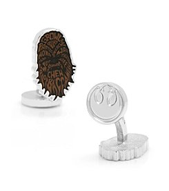Star Wars™ Men's Chewbacca Typography Cufflinks