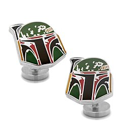 Star Wars™ Men's Boba Fett Distressed Helmet Cufflinks