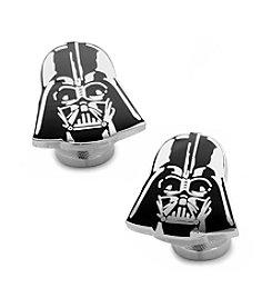 Star Wars™ Men's Recessed Matte Darth Vader Head Cufflinks
