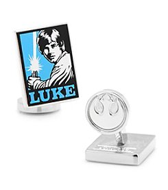 Star Wars™ Men's Luke Skywalker Pop Art Poster Cufflinks