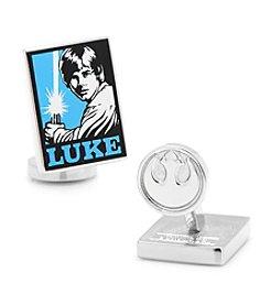 Star Wars™ Men's Luke Skywalker Pop Art Poster Cufflinks