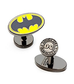 DC Comics Men's Enamel Oval Batman Logo Cufflinks