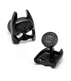DC Comics Men's 3-D Satin Black Classic Batman Mask Cufflinks