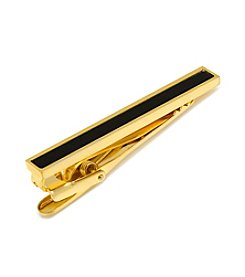 Ox & Bull Men's Gold and Onyx Inlaid Tie Clip