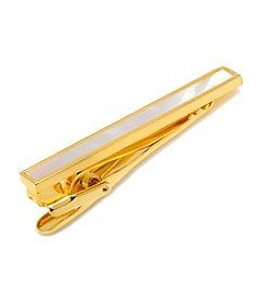 Ox & Bull Men's Gold and Mother of Pearl Inlaid Tie Clip