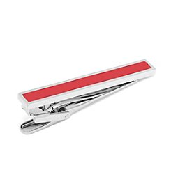 Ox & Bull Men's Red Enamel Inlaid Short Tie Clip