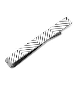 Ox & Bull Men's Etched Chevron Tie Bar