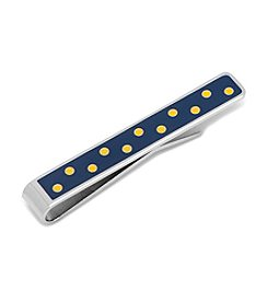 Ox & Bull Men's Blue and Yellow Polka Dot Tie Bar