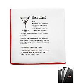 Ox & Bull Men's Martini Recipe Pocket Square