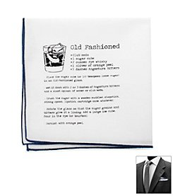 Ox & Bull Men's Old Fashioned Recipe Pocket Square