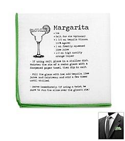 Ox & Bull Men's Margarita Recipe Pocket Square