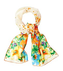 Lauren Ralph Lauren® Parisa Silk Jacquard Floral Oblong Scarf