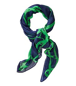 Lauren Ralph Lauren® Paloma  Iconic Belted Border Wrap Scarf
