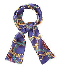 Lauren Ralph Lauren® Rebecca Belted Print Silk Oblong Scarf