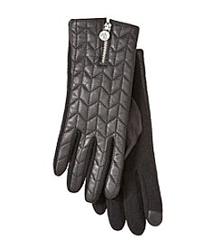 Lauren Ralph Lauren® Logo Zipper Touch Quilted Gloves
