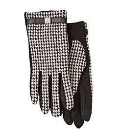 Lauren Ralph Lauren® Houndstooth Logo Cube Belted Touch Gloves