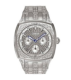Bulova® Men's Swarovski Crystal Bracelet Watch