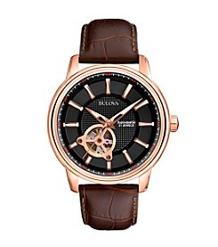 Bulova® Men's Automatic Strap Watch