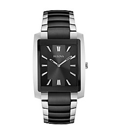 Bulova® Men's Black Dial Bracelet Watch