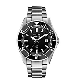 Bulova® Men's Marine Star Black Dial Watch