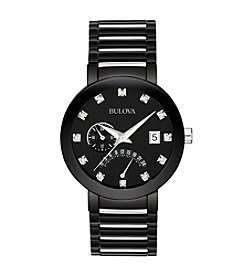 Bulova® Men's Diamond Dial Watch