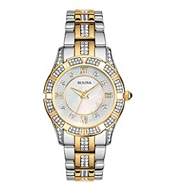 Bulova® Women's Crystal Bracelet Watch