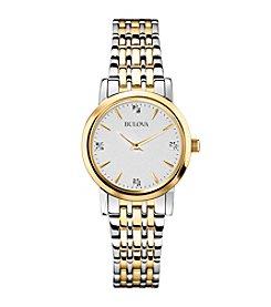 Bulova® Women's Diamond Dial Bracelet Watch