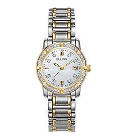 Bulova® Women's Diamond Accented Calendar Watch