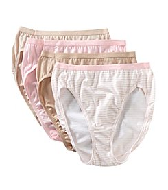 Hanes® Platinum Cotton Creations Hi Cut Brief 4 Pack