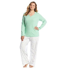 Intimate Essentials® Plus Size Printed Pajama Set
