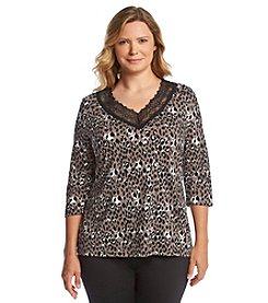 Chanteuse® Plus Size V Neck Lounge Top