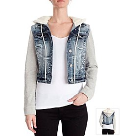 Wallflower® Denim Jacket With Sherpa Hood