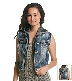 Wallflower® Hooded Denim Vest