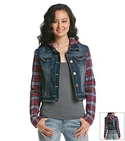 Wallflower® Plaid Denim Jacket