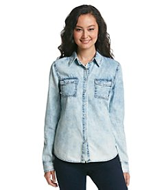 Hippie Laundry Acid Wash Chambray Shirt
